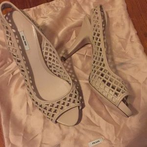 Miu Miu Caged Sling back heels